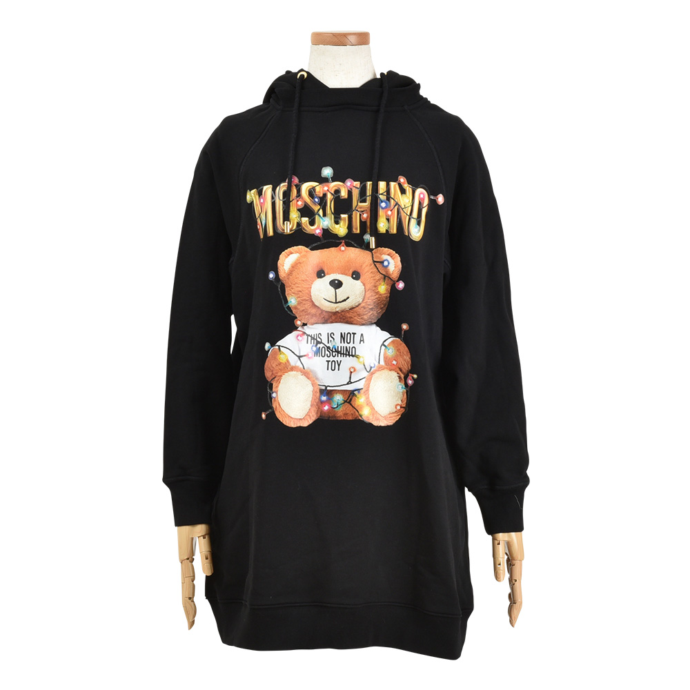 MOSCHINO 黒パーカー op-0039